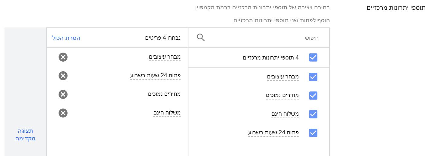 תוספי הסבר בGoogle Ads