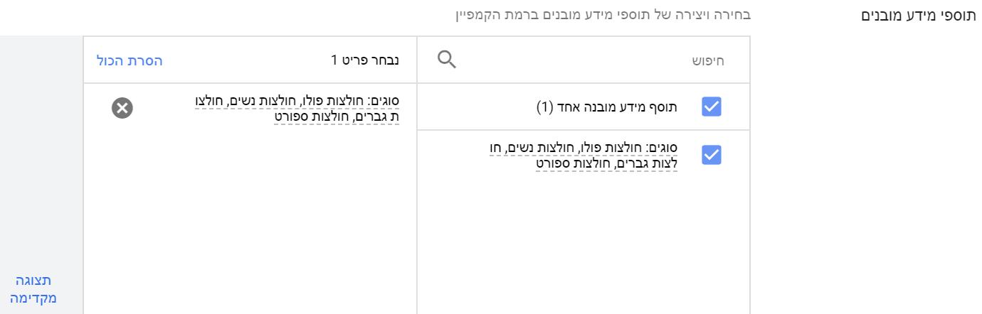 תוספי מידע בGoogle Ads